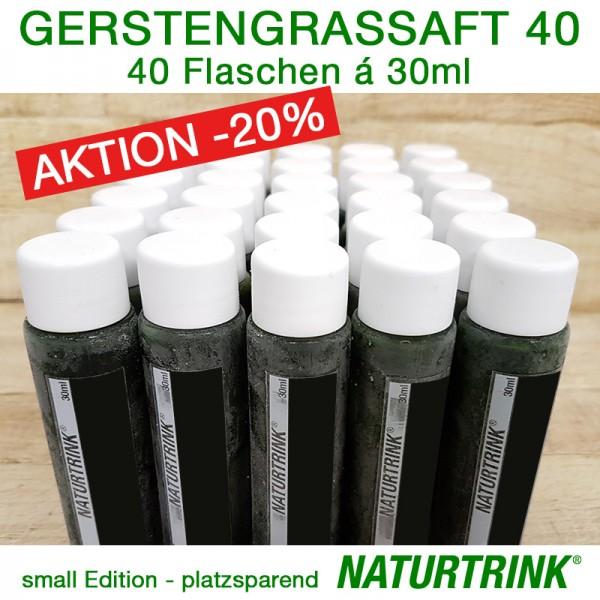Gerstengrassaft 40 - NATURTRINK
