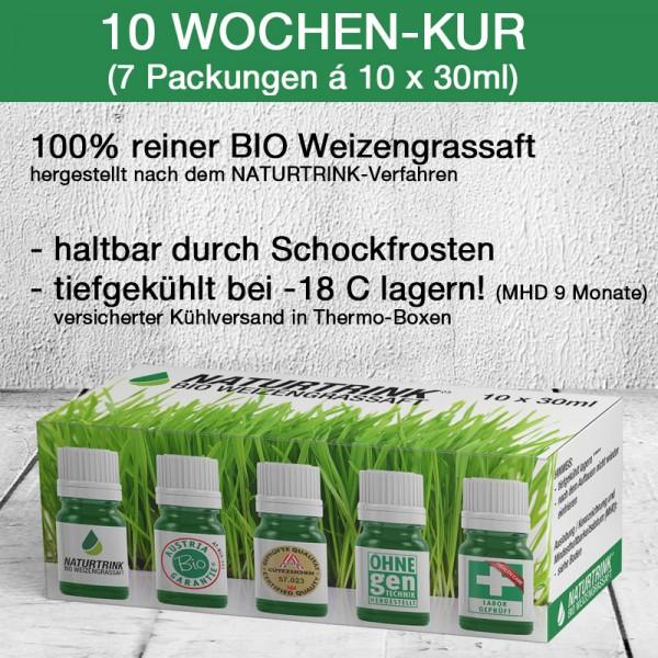 10 Wochen-Kur BIO Weizengrassaft (70 x 30ml)