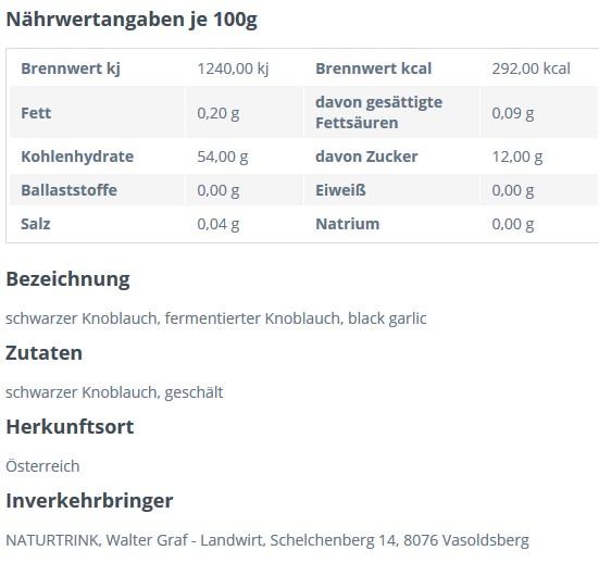 naehrwerte_schwarzer_knoblauch