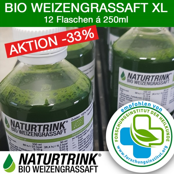 NATURTRINK XL - BIO Weizengrassaft (12 x 250ml)