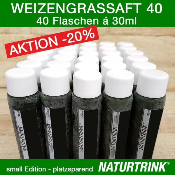 Weizengrassaft 40 - NATURTRINK