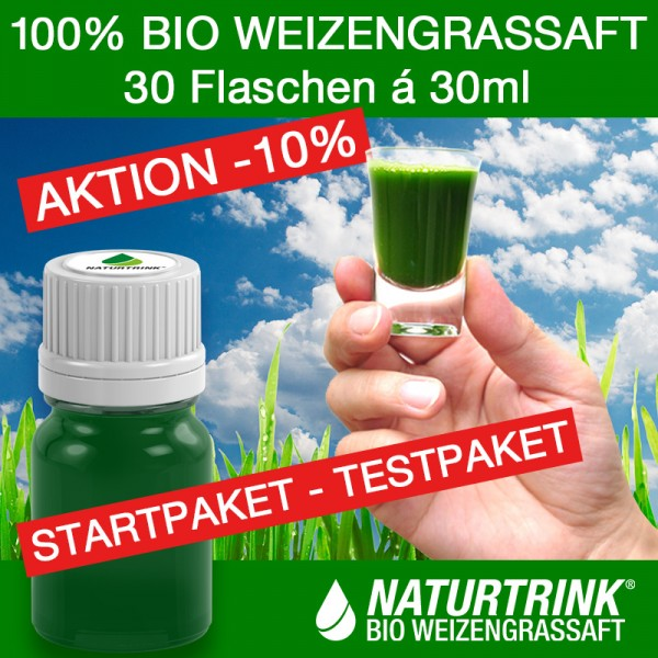 THERAPIE 30 - BIO Weizengrassaft (30 Flaschen á 30ml)