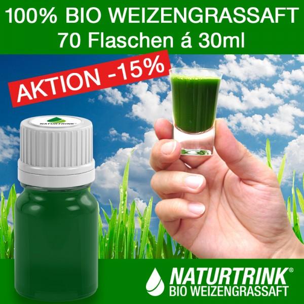 THERAPIE 70 - BIO Weizengrassaft (70 x 30ml)